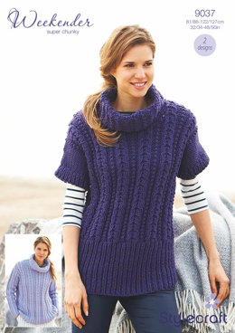 Womens' Sweater and Tunic in Stylecraft Weekender Super Chunky