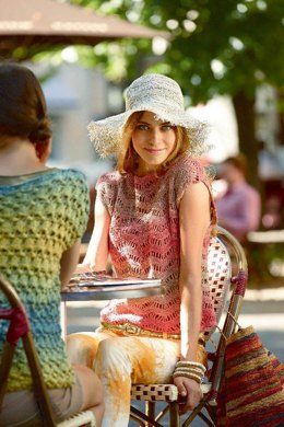 Crocheted Top in Schachenmayr Tahiti - 2180 - Downloadable PDF