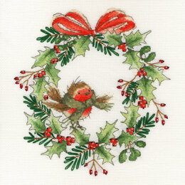Bothy Threads Robin Wreath Cross Stitch Kit