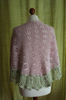 Flowering Almond Shawl