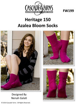 Azalea Bloom Socks in Cascade Heritage 150 - FW199