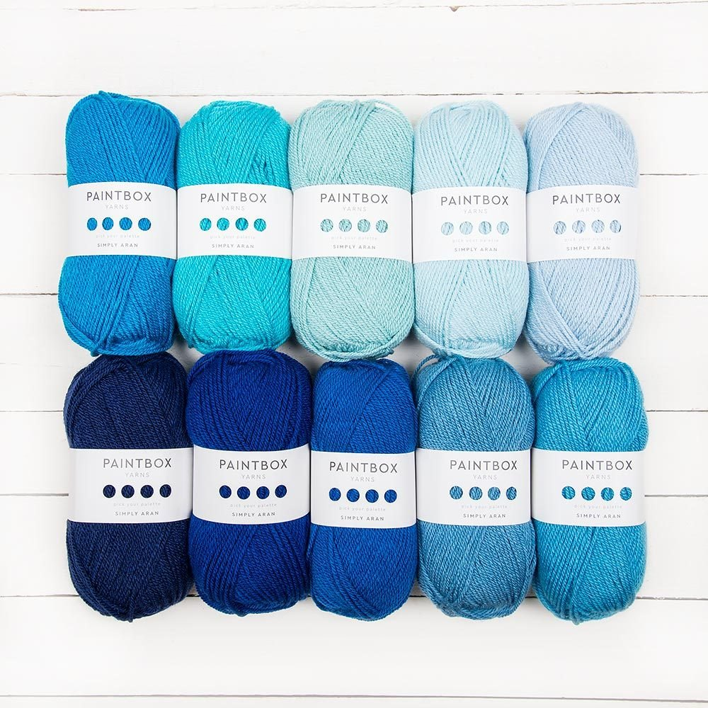 Paintbox Yarns Simply Aran 10 Color Pack - Winter Blue