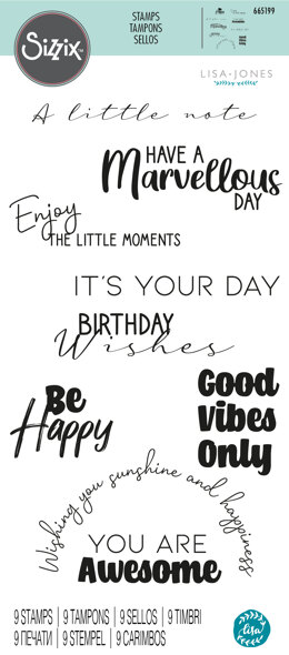 Sizzix Clear Stamps - Everyday Sentiments #2 by Lisa Jones