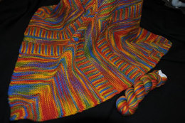 Reversible Dazzling Blanket in Artyarns Supermerino - P125