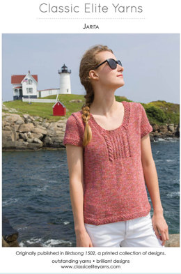 Jarita Pullover in Classic Elite Yarns Sandpiper - Downloadable PDF
