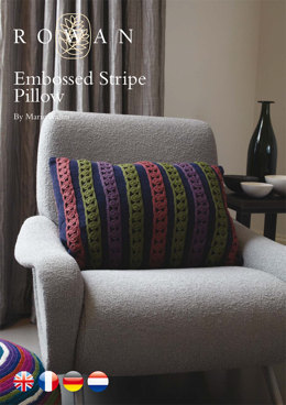 Embossed Stripe Pillow in Rowan Chenille & Wool Cotton