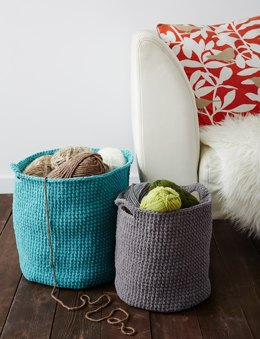 Stash Basket in Bernat Blanket