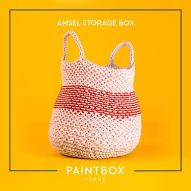 Amsel Storage Box - Free Knitting Pattern For Home in Paintbox Yarns Recycled Big Cotton by Paintbox Yarns