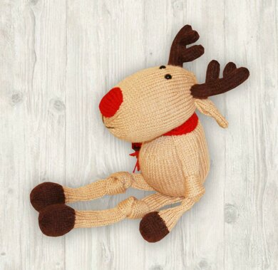 Reindeer Knitting Pattern (an extremely soft, huggable and cute toy), Knitted Reindeer