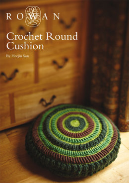 Crochet Round Cushion in Rowan Pure Wool Worsted