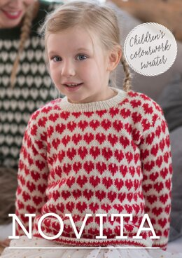 Children's Colorwork Sweater in Novita Nalle - Downloadable PDF