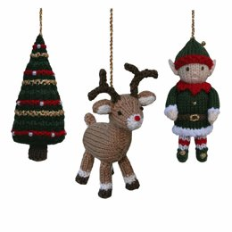 Christmas Tree, Reindeer and Elf