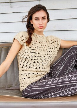 Rua Top in Rowan Handknit Cotton - Downloadable PDF