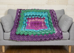 Boho Throw in Premier Yarns Serenity Chunky Big Ombre - Downloadable PDF