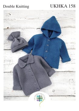 Jackets and Hat in King Cole DK - UKHKA158pdf - Downloadable PDF