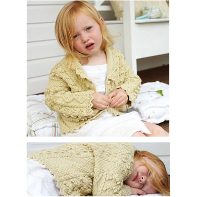 """Lace Edged Cardigan"" - Cardigan Knitting Pattern For Girls"""" : Cardigan Knitting Pattern for Girls in Debbie Bliss DK 