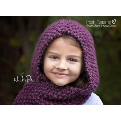 Easy Knit Hooded Scarf Cowl Knitting Pattern 128 Knitting Pattern By