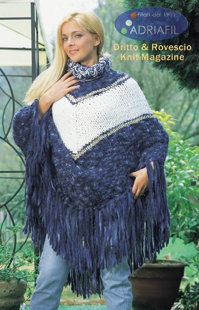 Carmencita Poncho In Adriafil Baba Charme And Gold