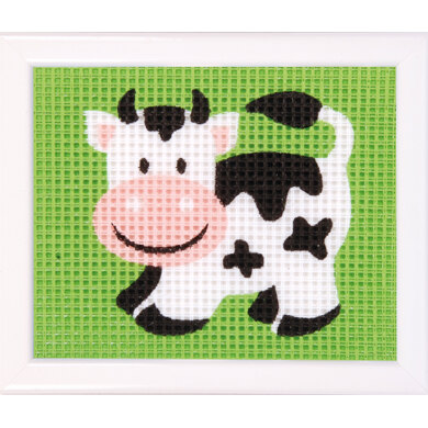 Vervaco Cow Tapestry Kit - 16 x 12.5cm