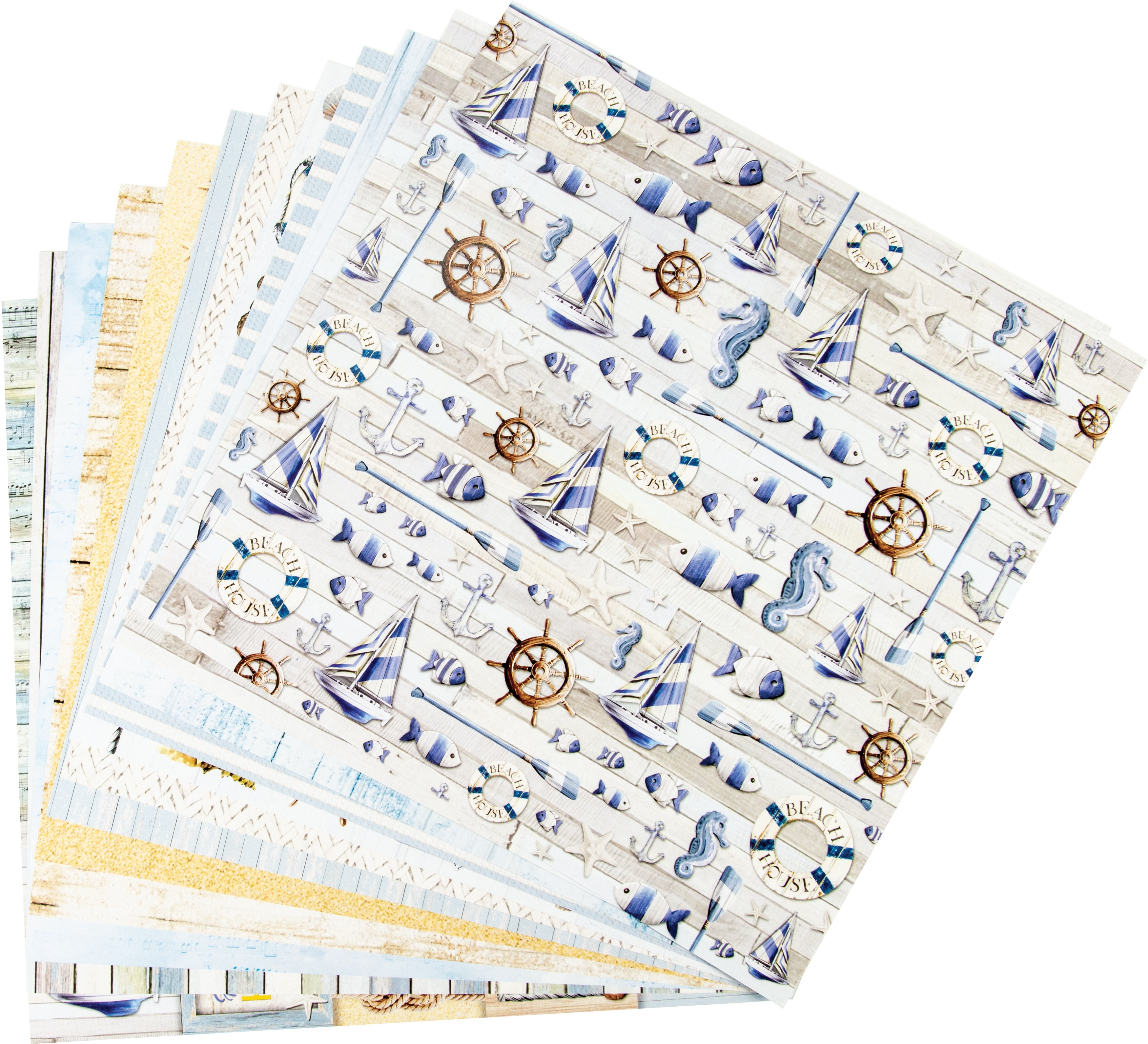 """Ciao Bella Double-Sided Paper Pack 90lb 12/""""X12/"""" 8//Pkg-Tango 8 Designs//1 Each"""