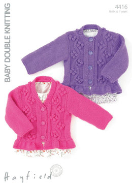 Cardigans with Detailed Panels in Hayfield Baby DK - 4416