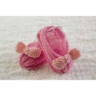 Retro Baby Girl Bow Booties