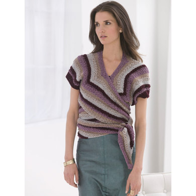 Shaded Stripes Wrap in Lion Brand Vanna's Glamour - L32255