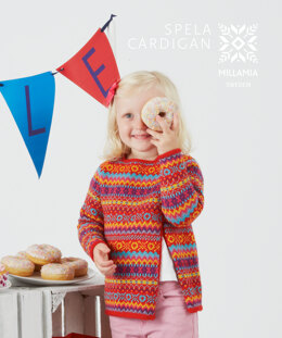 """Spela Cardigan"" - Cardigan Knitting Pattern For Girls in Millamia MillaMia Naturally Soft Merino-3"