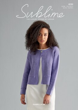 Crochet Cardigan in Sublime Isabella - 6132 - Downloadable PDF