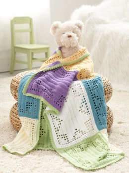 Starlight Baby Blanket in Caron Simply Soft Light - Downloadable PDF