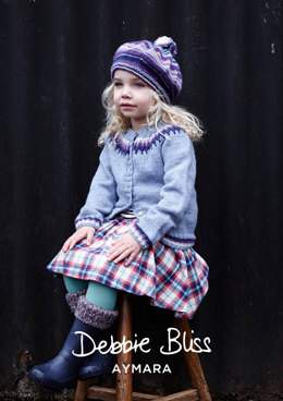 """Agnes Cardigan & Beret"" - Cardigan Knitting Pattern For Girls in Debbie Bliss Aymara - DB208"