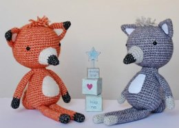 Crochet Fox and Wolf pattern 2 in 1