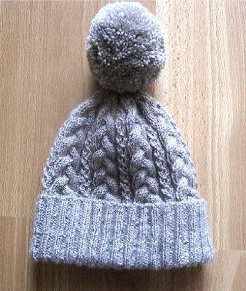 Knitting Pattern Aran Cable Hat : Super Cosy Cabled Beanie Knitting pattern by Suzie Sparkles Knitting Patter...