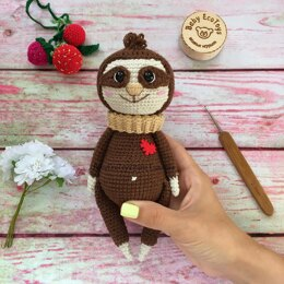 Crochet pattern Sloth Neal