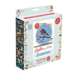 The Crafty Kit Company Robin in a Hoop Needle Felting Kit - 16cm