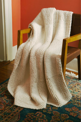 Basketweave Afghan in Lion Brand Wool-Ease Thick & Quick - 90332AD