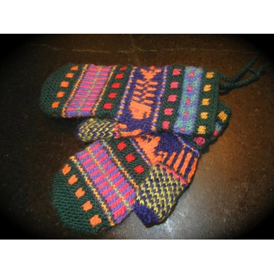 Whimsical Odds & Ends Mittens