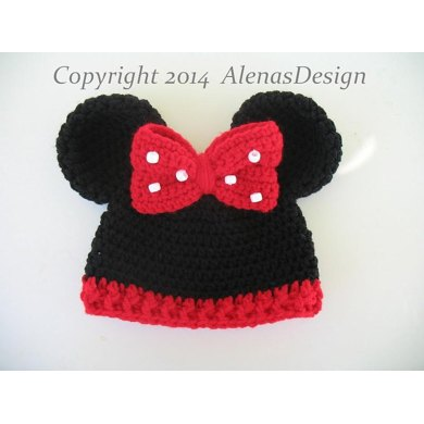 Baby Minnie Mouse Hat Crochet Pattern By Alena Byers