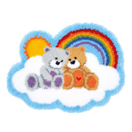 Vervaco Care Bears Latch Hook Shaped Rug Kit