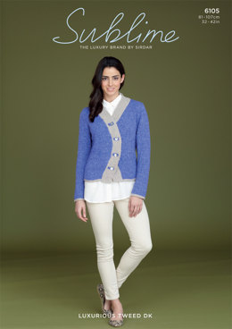 Ladies Jacket in Sublime Luxurious Tweed DK - 6105