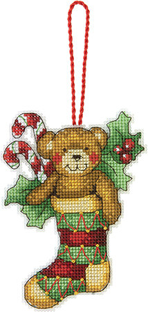 Dimensions Bear Ornament Cross Stitch Kit - 8cm x 11.5cm