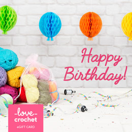 LoveCrochet eGift Card - Happy Birthday!