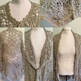 The Caped Lace Cardigan