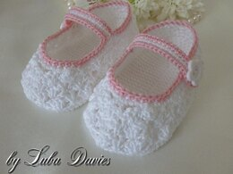 Lacy Crocheted Baby Shoes