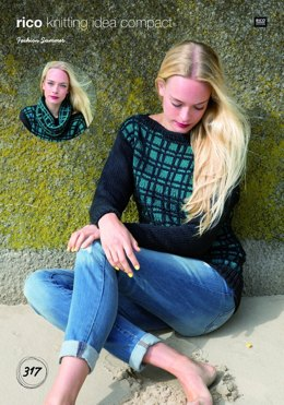 Sweater and Cowl in Rico Fashion Summer - 317