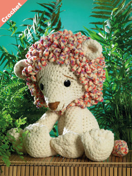 Rory the Lion Toy in James C. Brett Flutterby Chunky - JB402 - Leaflet