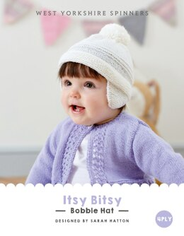 Itsy Bitsy  Bobble Hat in West Yorkshire Spinners Bo Peep 4 Ply - DBP0024 - Downloadable PDF