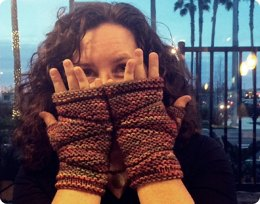 Salmon River Fingerless Gloves