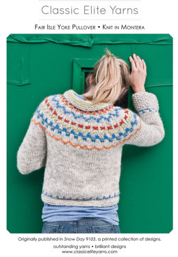 Fair Isle Yoke Pullover in Classic Elite Yarns Montera - Downloadable PDF
