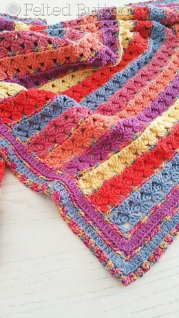 Rows of Posies Blanket